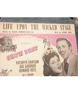 Sheet Music Life Upon the Wicked Stage from Showboat Hammerstein and Kern - $9.99