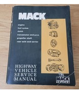 Mack Highway Vehicle Service Manual TS 442 Engine Transmission Clutch Ax... - $31.14
