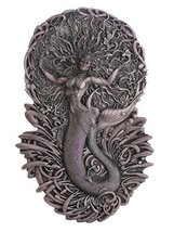 Celtic Legend Goddess Aine Mermaid Wall Plaque Decor by Artist Maxine Miller - $45.53