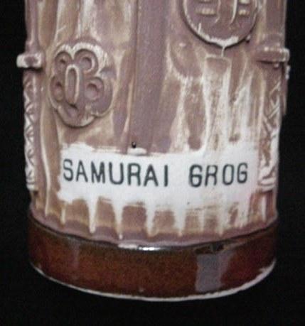 Old Samurai Grog Pottery Tiki Mug San Francisco Ca