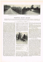 1907 Fighting Dusty Roads Automobile Magazine Article Advertisment Tar R... - $6.92