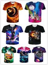 Fashion Womens/Mens Hot Space Adventure animal Funny 3D Print Casual T-Shirt  - $38.70