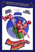 1990 ROLLERCOASTER RABBIT Roger POSTER 27x40 Original Double-Sided Movie... - $64.99
