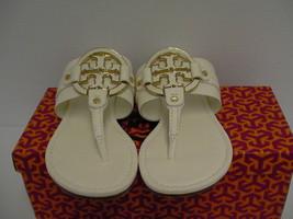 Mujer Tory Burch Zapatillas Amanda Plano Tanga Caído Cuero Bleach Size 8.5 - $209.84