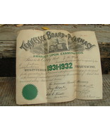 OLD 1931 32 Tennessee Board of Pharmacy Certifi... - $30.00