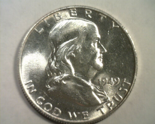 Primary image for 1949 FRANKLIN HALF NICE UNCIRCULATED NICE UNC. ORIGINAL COIN FROM BOBS COINS