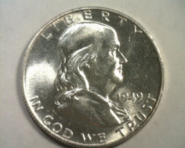 1949 FRANKLIN HALF NICE UNCIRCULATED NICE UNC. ORIGINAL COIN FROM BOBS C... - $52.00