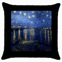 Throw Pillow Case Decor Cushion Cover Van Gogh Night Over The Rhone 3038... - $16.99
