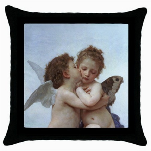 Throw Pillow Case Decor Cushion Cover William Bouguereau First Kiss 30276147