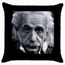 Throw Pillow Case Decorative Cushion Cover Albert Einstein Gift 36499787 - $16.99