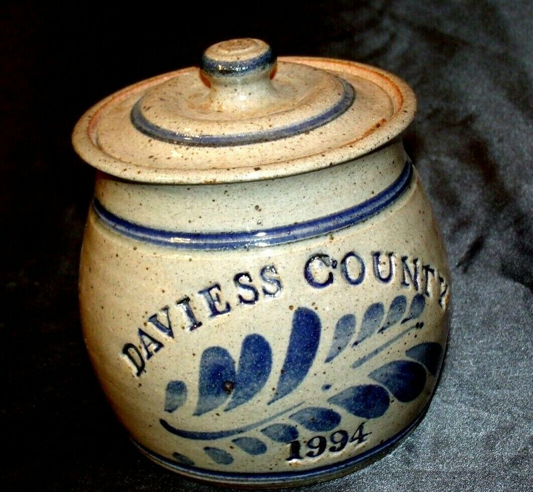 1994 Daviess County Westerwald Pottery/Stoneware Bowl with Lid AA-191827 (2 Piec
