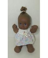 """Magic Nursery vintage doll floral dress 12"""" plush vinyl head black AA br... - $9.89"""