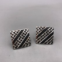 Vintage Mens Anson Chrome Cufflink Set - $14.84