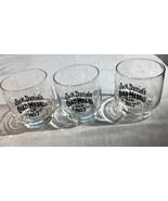 Vintage Lot Of 3 Jack Daniels Gold Medal Old No. 7 On The Rocks Glass - $29.02