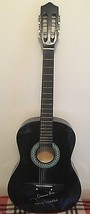 Johnny Mathis signed Black Acoustic Guitar W/PROOF & Inscription RARE - $280.11