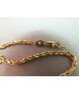 14k Silk Rope Yellow Gold Bracelet Rope Chain 4.7g PAT #4651517 Diamond ... - $247.49
