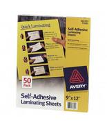 Clear Self Adhesive Laminating Sheets, 3 mil., 9 x 12, 50 SHEETS/BOX - $23.99