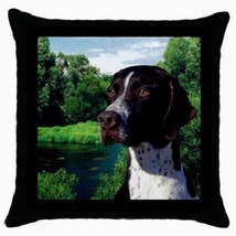 Throw Pillow Case Decorative Cushion Cover The Pointer White And Liver 3... - £12.71 GBP