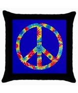 Throw Pillow Case Decorative Cushion Cover Tye Day Peace Sign On Blue 36... - $16.99
