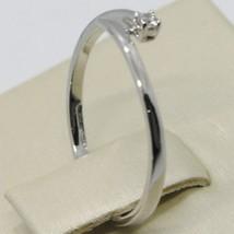 Anillo Oro Blanco 750 18K, Solitario, Serpiente, vía con Diamante Quilates 0.03 image 2