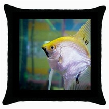 Throw Pillow Case Decorative Cushion Cover Yellow And Silver Fish Gift 3... - $16.99