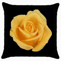 Throw Pillow Case Decorative Cushion Cover Yellow Rose Art  Gift model 1... - $16.99
