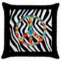 Throw Pillow Case Decorative Cushion CoverTye Day Peace Sign Gift model ... - $16.99