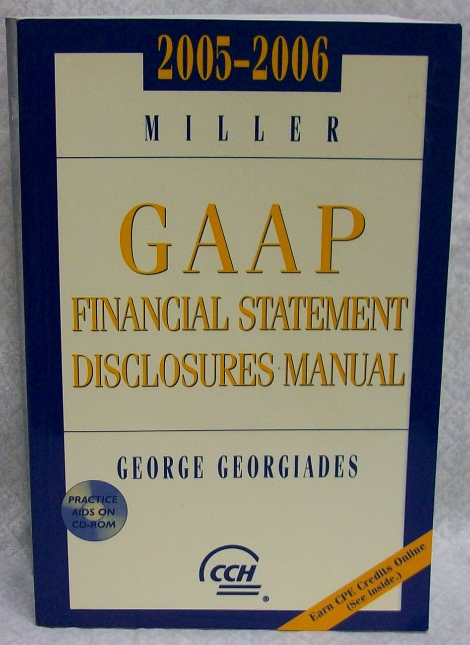 GAAP Financial Statement Disclosures Manual