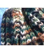 Hank knitted variegated autumn colors beanie/cap/hat - $10.00