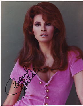 Raquel Welch hand signed sexy autographed photo beautiful