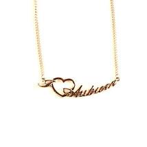 "NCAA Auburn Tigers Heart Script Necklace - Chain Logo Team 18"" Jewelry S... - €7,35 EUR"