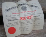 1936 1937 tennessee board of pharmacy diploma certificate thumb155 crop