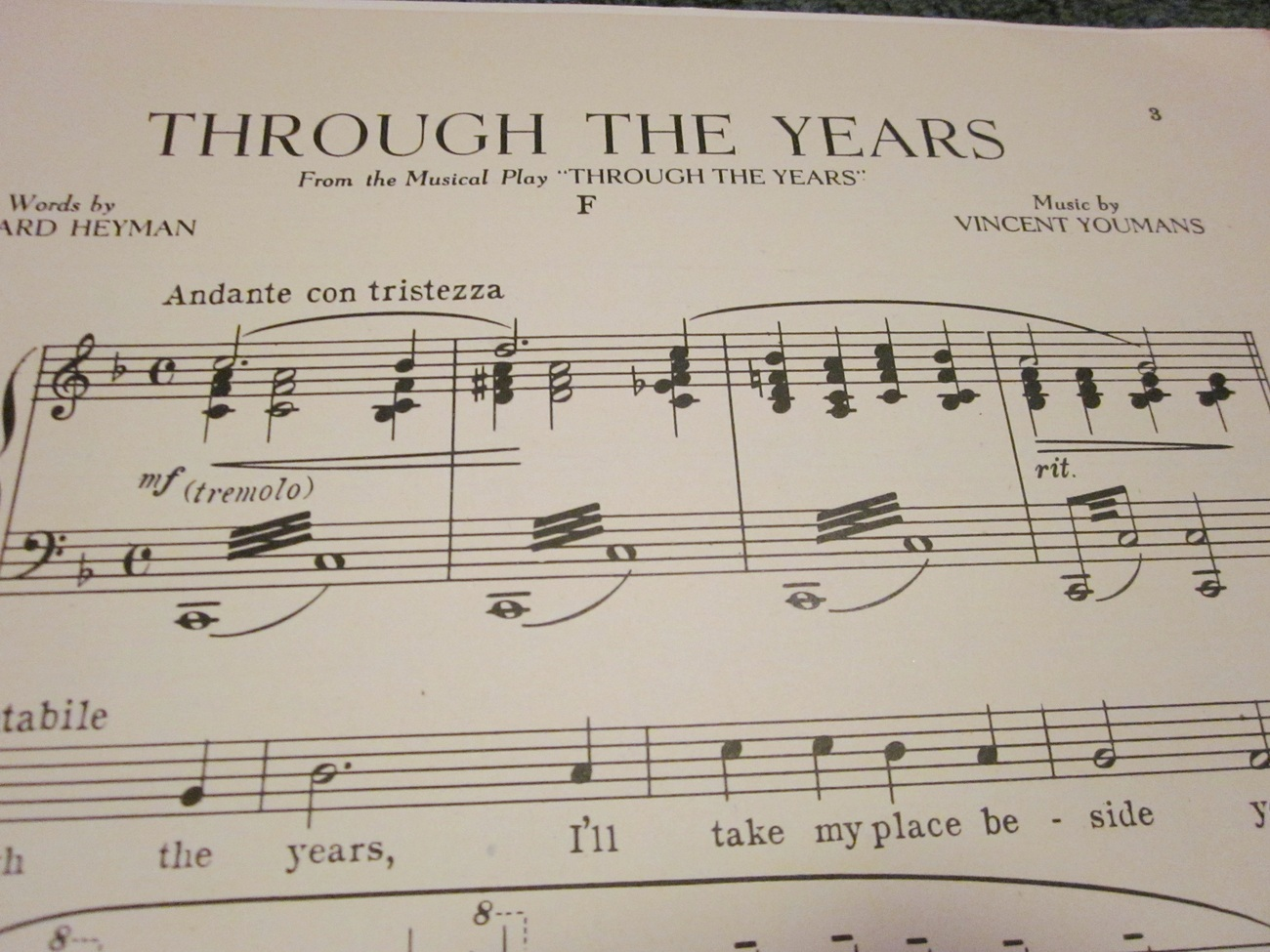 Sheet Music Through The Years by Edward Heyman and Vincent Youmans