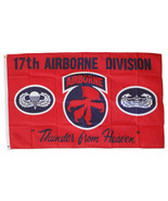 17th Airborne Division - 3'X5' Polyester Flag - $15.60