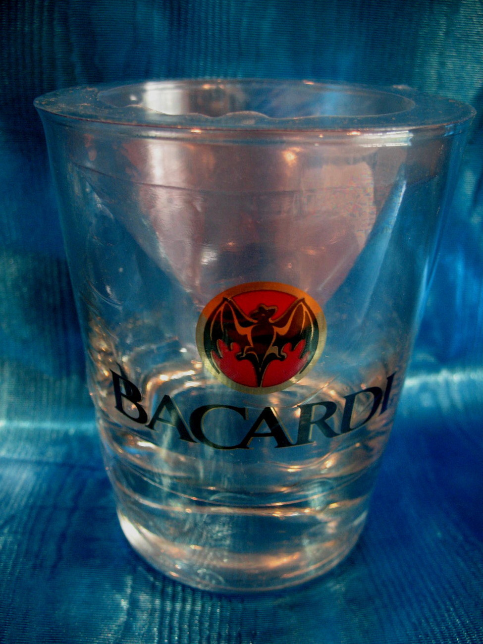 Bacardi Rum Collector Souvenir Glass Highball Bat Logo NEW