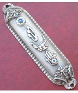 "4"" Pewter mezuzah mezuza hamsa need 7cm kosher scroll Israel FREE SHIPPING  - £10.31 GBP"