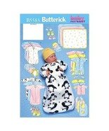 Butterick Patterns B5583 Infants' Bunting, Jumpsuit, Shirt, Diaper Cover... - $14.00