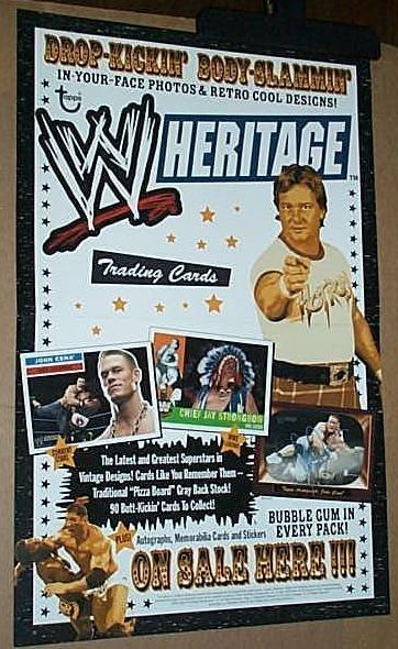 Topps WWF/WWE trading cards poster: Hulk Hogan/Undertaker/Roddy Piper/John Cena
