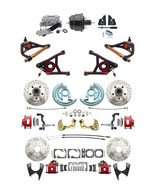 "GM 1964-72 A-Body Front & Rear Red Calipers Disc Brake 8"" Booster Contro... - $1,398.99"
