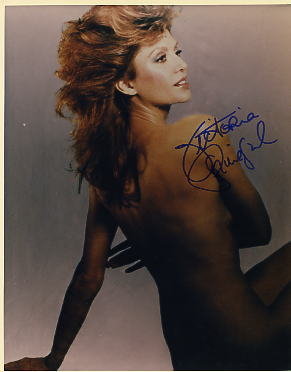 Victoria Principal hand signed sexy hot photo
