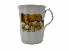 Royal Windsor Fine Bone China England Lion and Cub Tea Cup 12 oz - $18.69