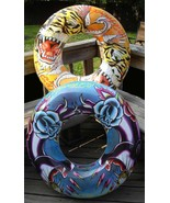 """Ed Hardy Tiger or Panther 36"""" Inflatable Swim Ring Tube - $18.59"""