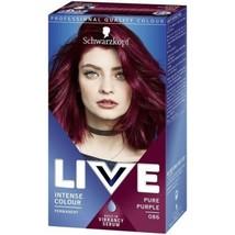 Schwarzkopf LIVE Permanent Hair Dye + Serum Colour PURE PURPLE For Blonde Hair - $14.22