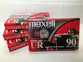 Maxell UR 90 Cassette Tapes Lot of 4 - 90 Minute Normal Bias Audio NEW -... - $11.99