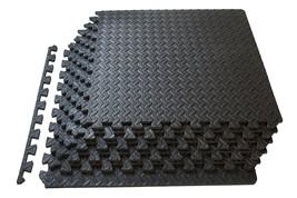 Black Puzzle Exercise Mat High Quality EVA Foam Interlocking Play Floor ... - $34.26
