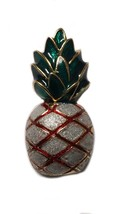 Vintage Costume Jewelry Pineapple Brooch Pin Enameled - $16.82