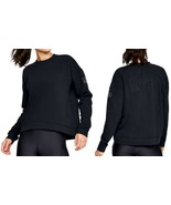 "Under Armour Women's Project Rock ""RESPECT""  Crewneck Sweatshirt Black Sz M-XL - $50.39"