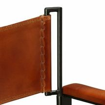 vidaXL 1/2x Folding Chair Genuine Real Leather Kitchen Dinner Dining Room Seat image 9