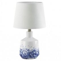White and Blue Splash Porcelain Table Lamp - $98.00
