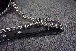 100% AUTH Chanel Le Boy Black Patent Leather Plexiglass Medium Quilted Flap Bag  image 7